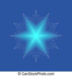 éclat, aimer, étoile, noël, doux, clair, flocon de neige