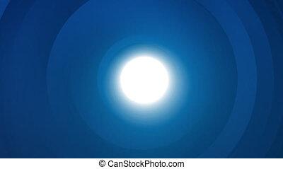 éclat, bleu, cercle, fond, lumière, résumé, tunnel