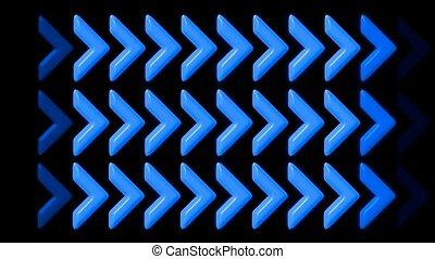 éclat, bleu, flèche