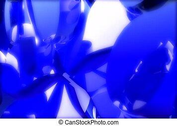 éclat, bleu, réflecteur