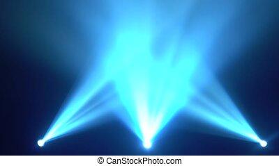 éclat, brillamment, rayons, lumière, trois, fumée