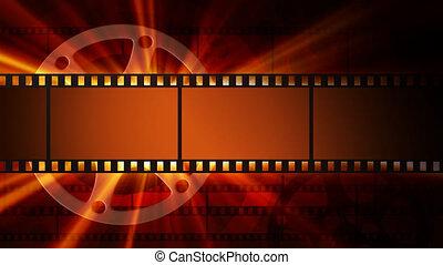 éclat, films, bobine, pellicule