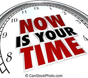 éclat, horloge, deserve, temps, vous, maintenant, ton, ...