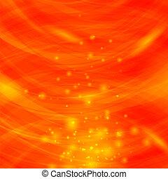 éclater, étincelant, brouillé, arrière-plan., texture, orange