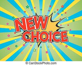 éclater, choix, parole, fond, nouveau, comique, bulle, rédaction