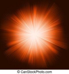 éclater, lumière, eps, étincelant, stars., orange, 8
