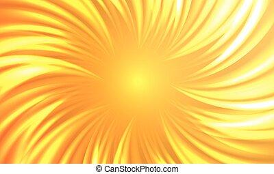 éclater, soleil, résumé, automnal, chaud, vecteur, fond