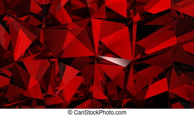 éclats (flares), arrière-plan rouge, diamants