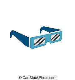 éclipse, -, examen, solaire, total, sans risque, lunettes