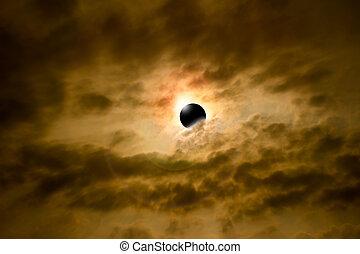 éclipse, graphique, informatique
