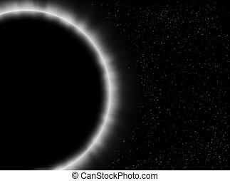 éclipse, gros plan