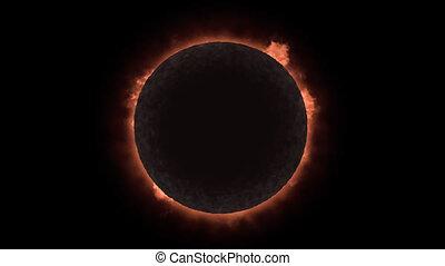éclipse, loopable, solaire, alpha