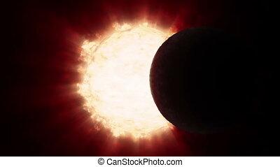 éclipse solaire, timelapse