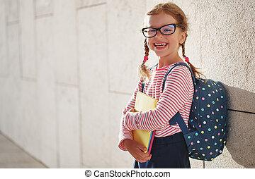 école, écolière, étudiant, enfant, élémentaire, girl