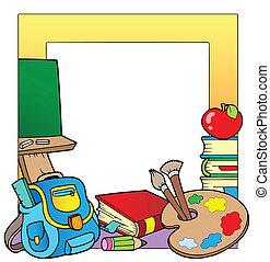 école, 2, thème, cadre