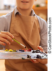 école,  art, enthousiaste, enfant, Leçon, avoir