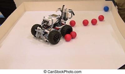 école, balle, robot, projet, procès, collector.