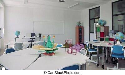 école, classe, learning., peu conventionnel, privé, appui ...