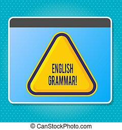 école, concept, connaissance, langue, texte, signification, grammar., reading., littérature, anglaise, écriture, écriture, education