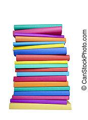 école, connaissance, coloré, livres, education, pile