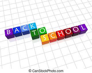 école, couleur, dos