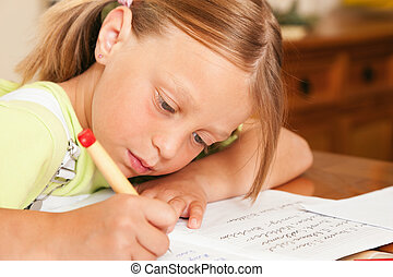 école, devoirs, enfant