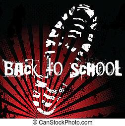 école, dos, chaussure