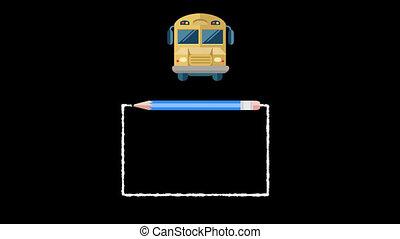 école, fond, graphiques, alpha, dos, transparent