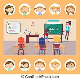 école, grammaire, anglaise, sujet, prof, leçon