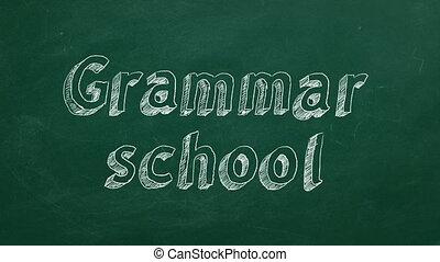 école, grammaire