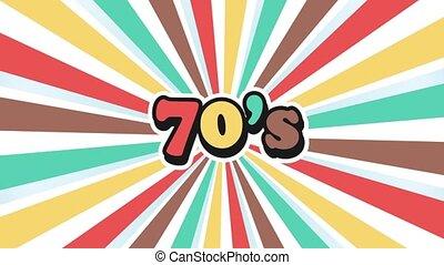 école, graphique, vieux, vendange, 70s, mouvement, fond