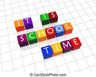 école, il, temps