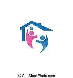 école maison, logo