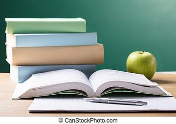 école, manuel, bureau