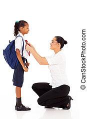 école primaire, aide, élèves, prof