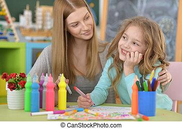 école primaire, classe art
