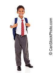 école primaire, etudiant mâle