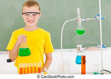 école primaire, etudiant mâle, laboratoire