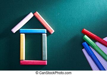 école primaire, objets
