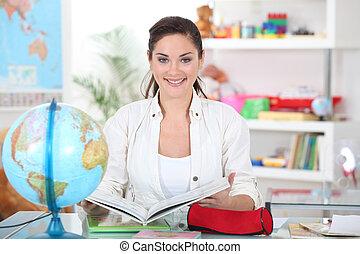 école, primaire, prof