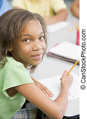 école primaire, pupille, bureau