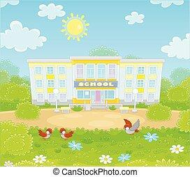 école, schoolyard