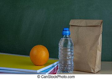 école, s'installer, sac, déjeuner, bureau, prof