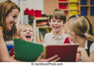 école, storytime