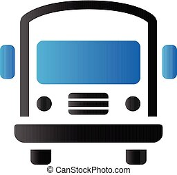 école, tonalité, duo, autobus, -, icône