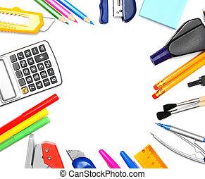 école, tools.