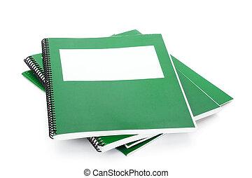école, vert, manuel