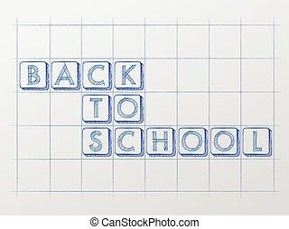 école, whiteboard, dos, vec