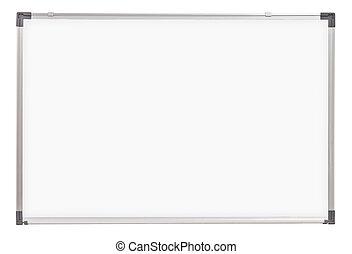 école, whiteboard, isolé, planche, blanc, ou