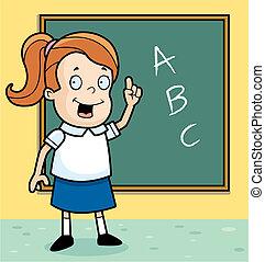écolière, classe